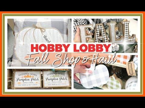 FINDING THE BEST FALL DECOR AT HOBBY LOBBY! | FALL DECOR HAUL 2019