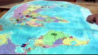 Bé nhận biết cờ và vị trí các Quốc gia trên bản đồ _ Lý Thế Anh - Kindy 4.2