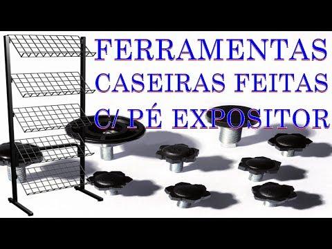 FERRAMENTAS CASEIRO FEITAS COM PÉ DE EXPOSITOR DE MERCADO FERRAMENTAS INCRÍVEIS CASEIRAS