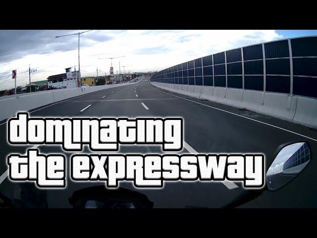 Cavitex C5 Southlink Expressway motorcycle experience   Kawasaki Dominar 400