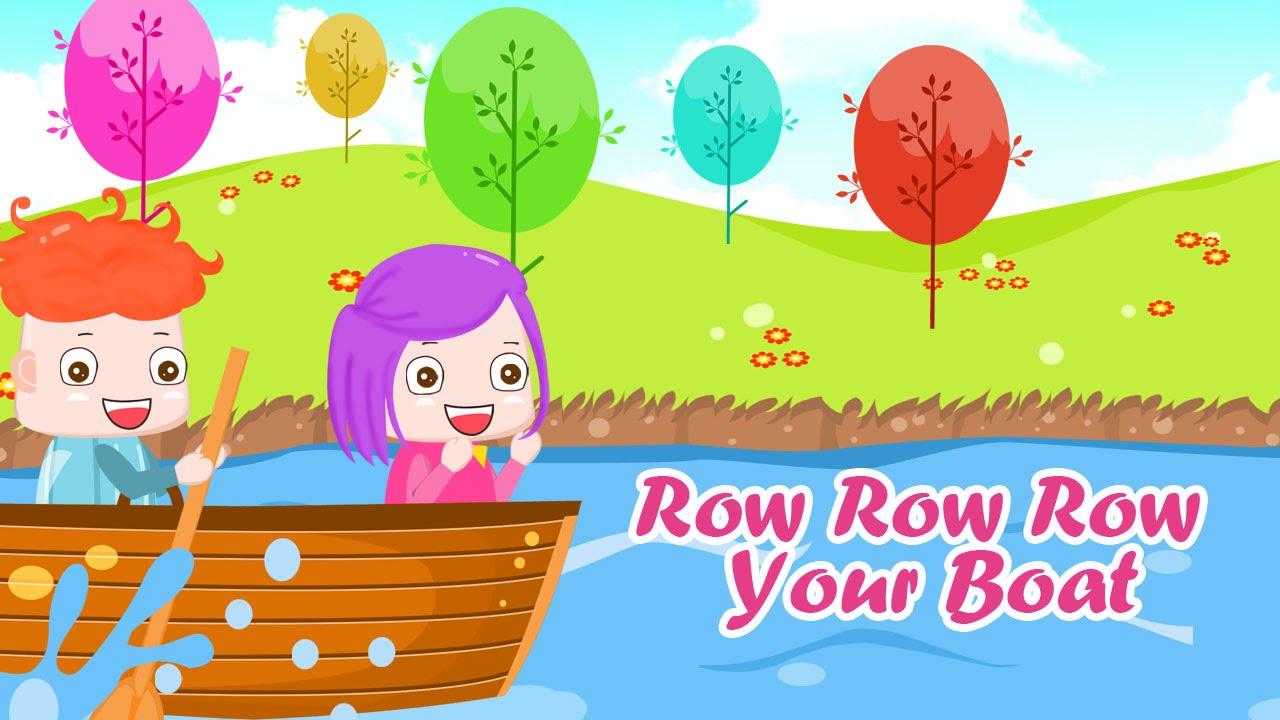 Row Row Row Your Boat | Nhac Thieu Nhi Soi Dong | Hoc Tieng Anh Qua Bai Hat