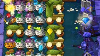 6 cob  Survival Endless Night   Plants vs Zombies