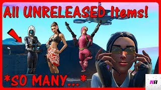 'ALL' UNRELEASED Articles Coming SOON To Fortnite! (LEAKED Skins, Emotes, Wraps, Pickaxes et Gliders)