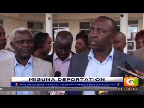 Meru Jubilee MP's blast Government over Miguna's deportation