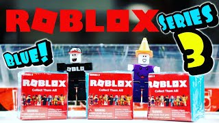 Roblox Series 3 Blind Boxes BLUE / Mystery Toy Figures Opening and Review / Free Codes / Jazwares