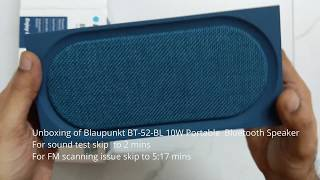 Blaupunkt BT-52-BK 10 Watt Bluetooth Speaker Review & Sound Test