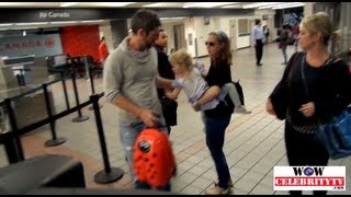 Amy Adams spotted at LAX Airport with her child