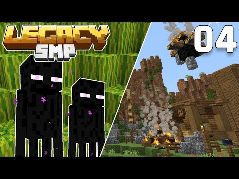 Enderman Farm Complete & Under Attack! - Legacy SMP #4 (Multiplayer Let's Play) | Minecraft 1.15
