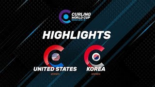 HIGHLIGHTS: United States v Korea –Women's – Curling World Cup leg two, Omaha, United States