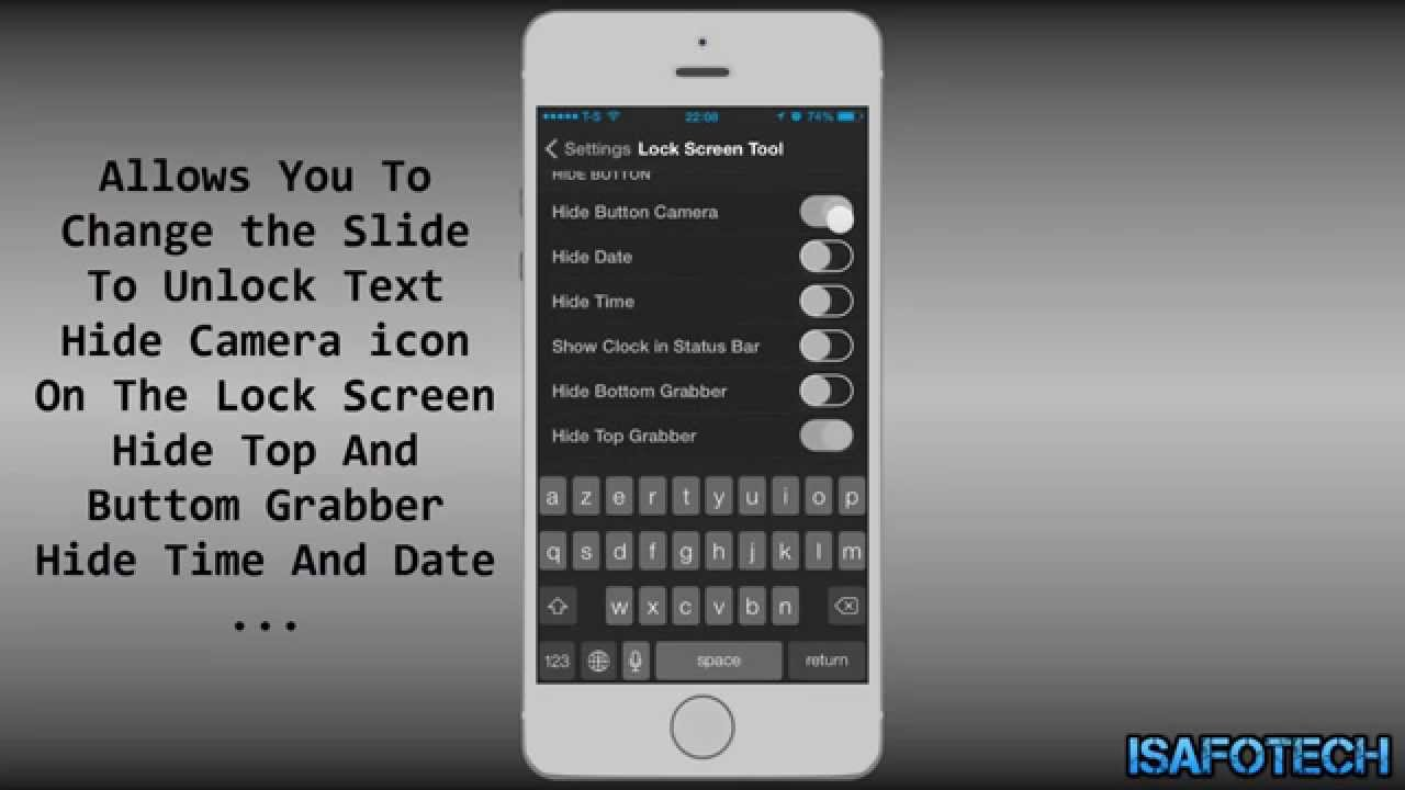 lock screen tool cool cydia tweak hide time and date more options 2014