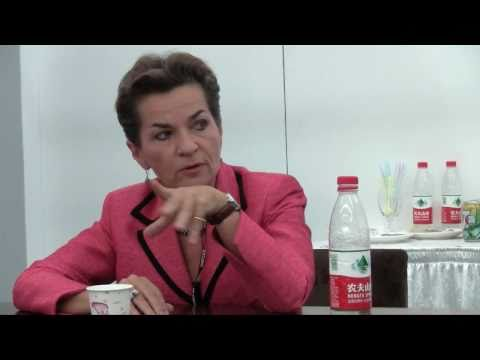 Christiana Figueres - Talks to the Adopt a Negotiator Trackers at the UNFCCC talks in Tianjin