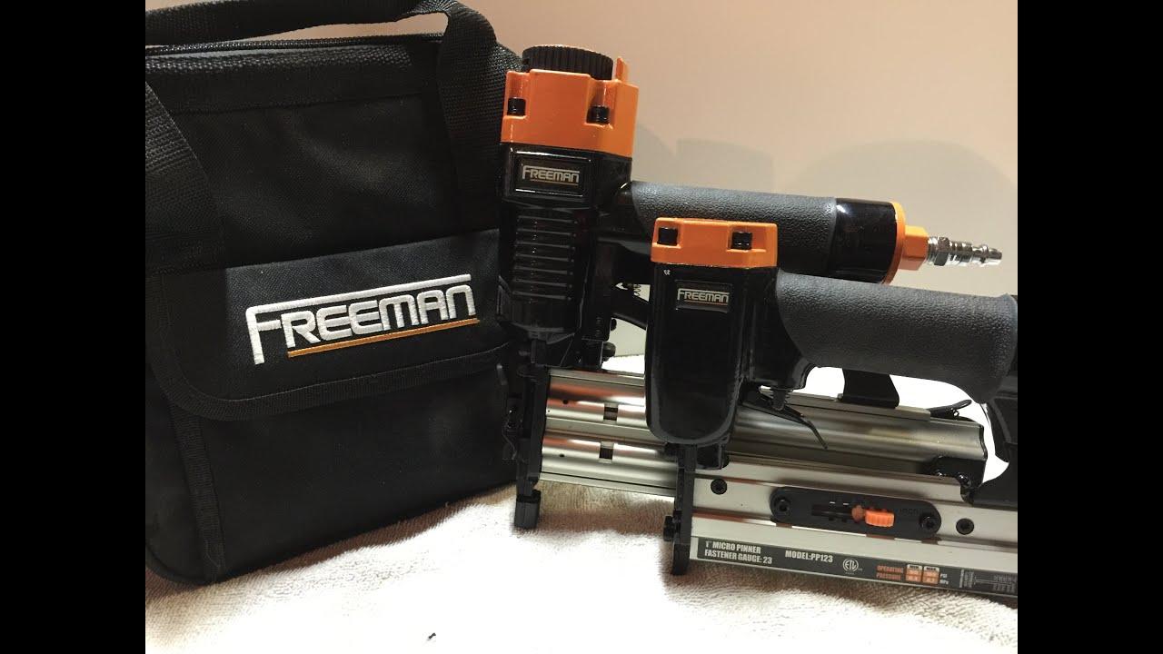 Freeman Brad Nailers Review (Model PBR50Q, Model PP123) - YouTube