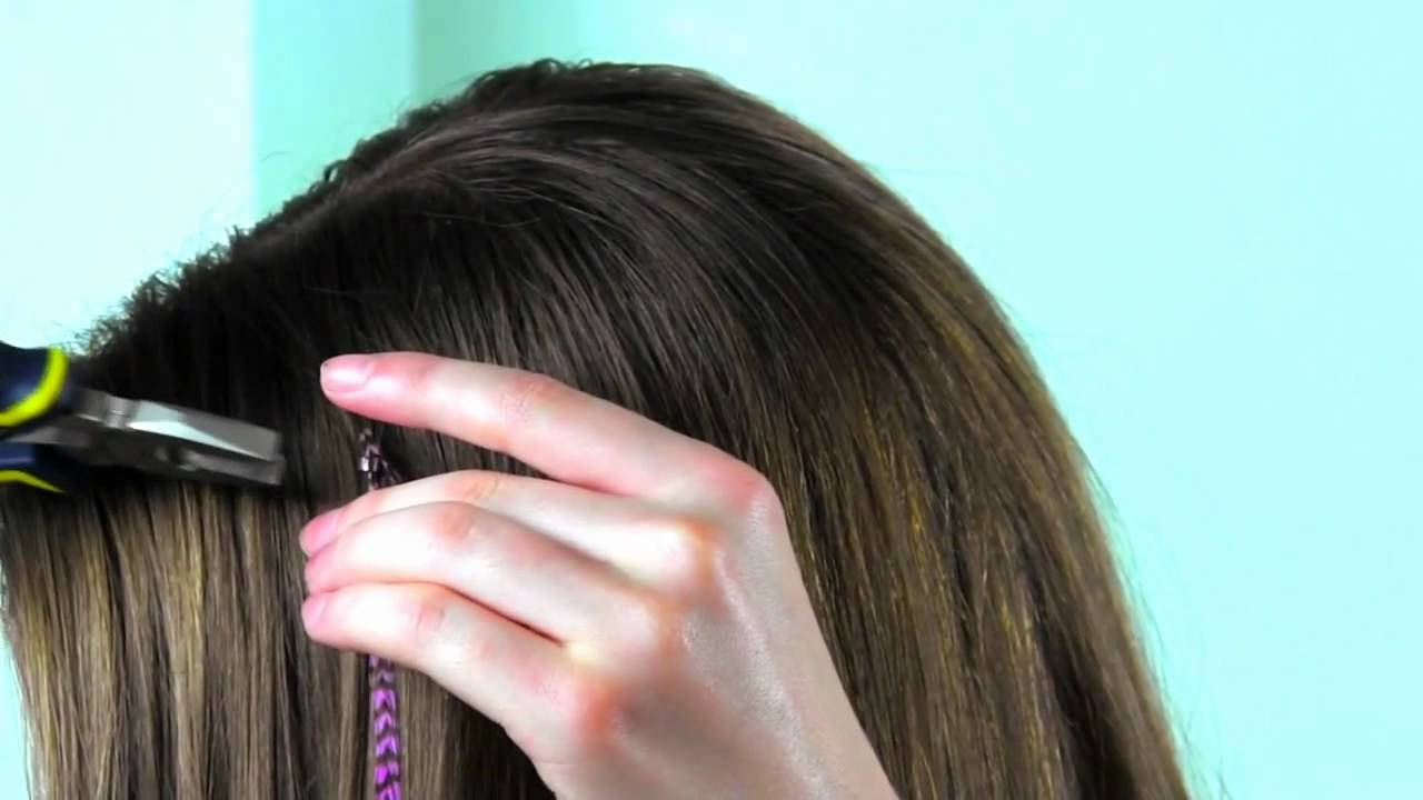 How To Install Feather Hair Extensions Youtube