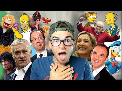20 IMITATIONS EN 1 MINUTE ! (Homer Simpson, Marine le Pen, Didier Deschamps, etc...)