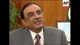 AP exclusive interview with President Asif Ali Zardari, comments on Obama