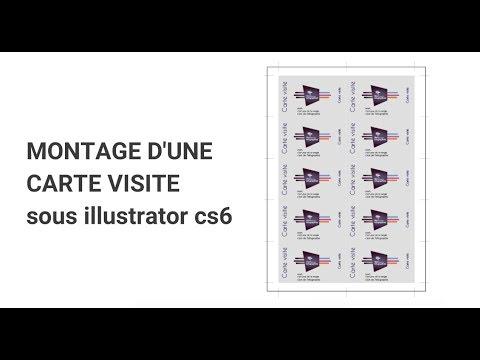 Montage Dune Carte Visite Sous Illustrator Cs6