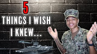 5 Things I Wish I Knew Before Joining The Navy *WATCH BEFORE JOINING*