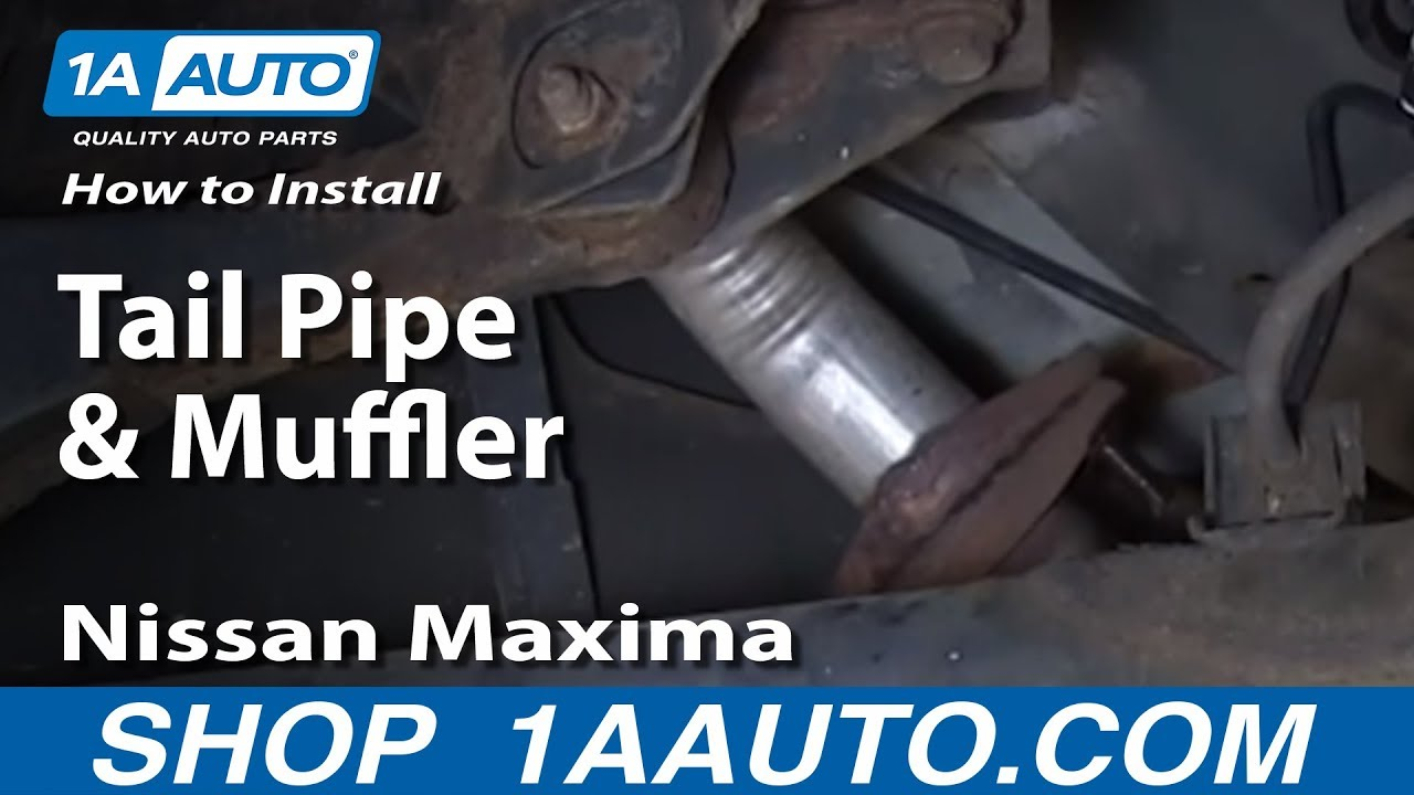 small resolution of how to replace muffler with gasket 00 03 nissan maxima
