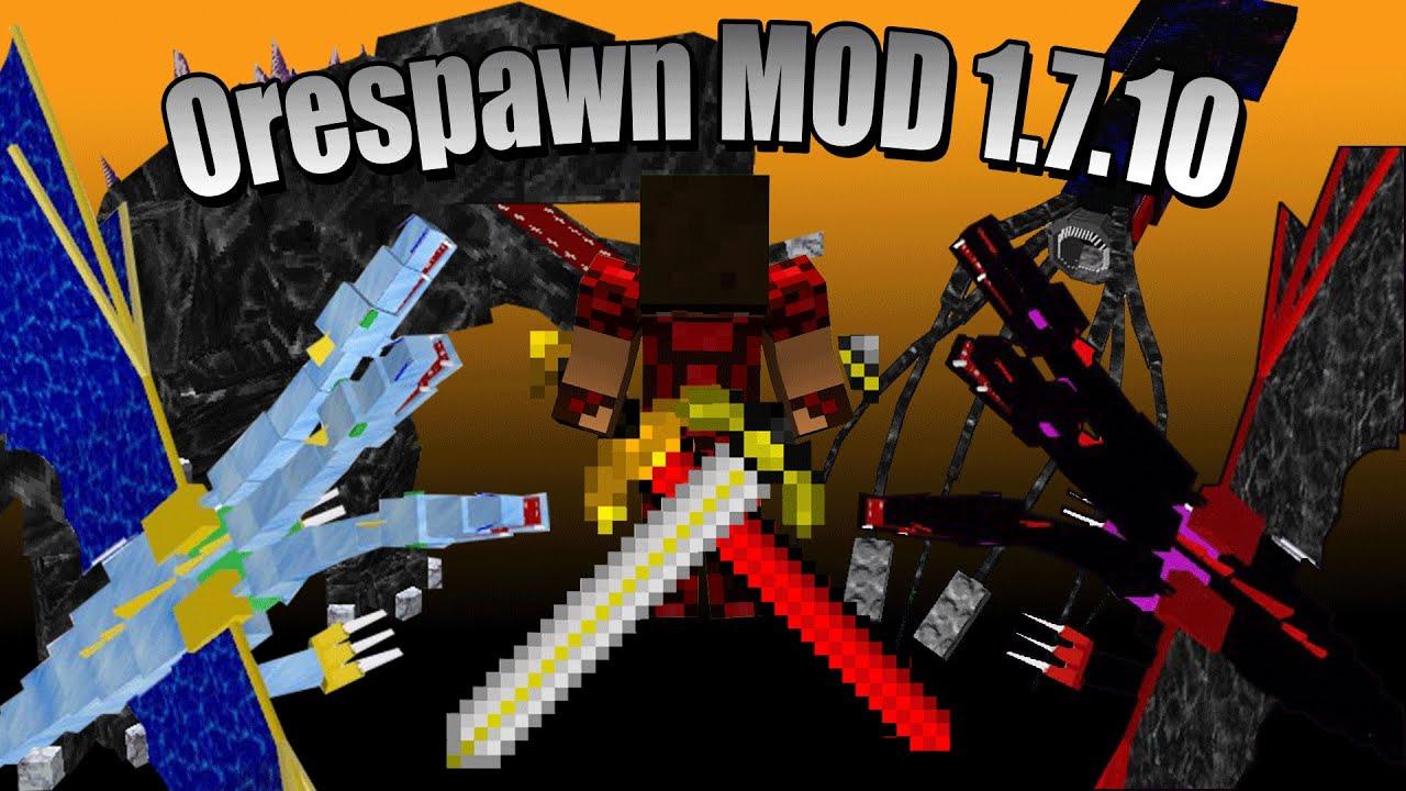 Minecraft Ita Mod Orespawn Mod 1 7 10 Nuove Armi Op Dimensioni E Mobzilla
