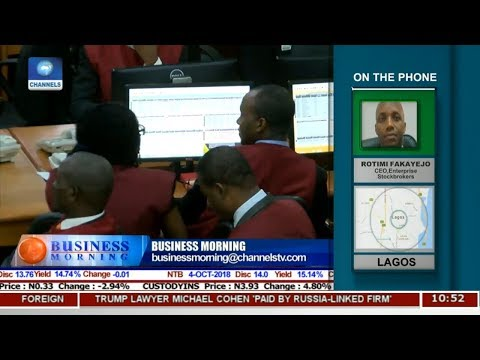 Equities Market Review With Rotimi Fakayejo   Business Morning  