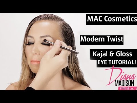 Quick and Easy Smokey Eyes Makeup Tutorial w/ MAC Cosmetics Modern Twist Kajal and Eye Gloss