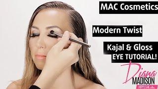 Quick and Easy Smokey Eyes Makeup Tutorial w/ MAC Cosmetics Modern Twist Kajal and Eye Gloss