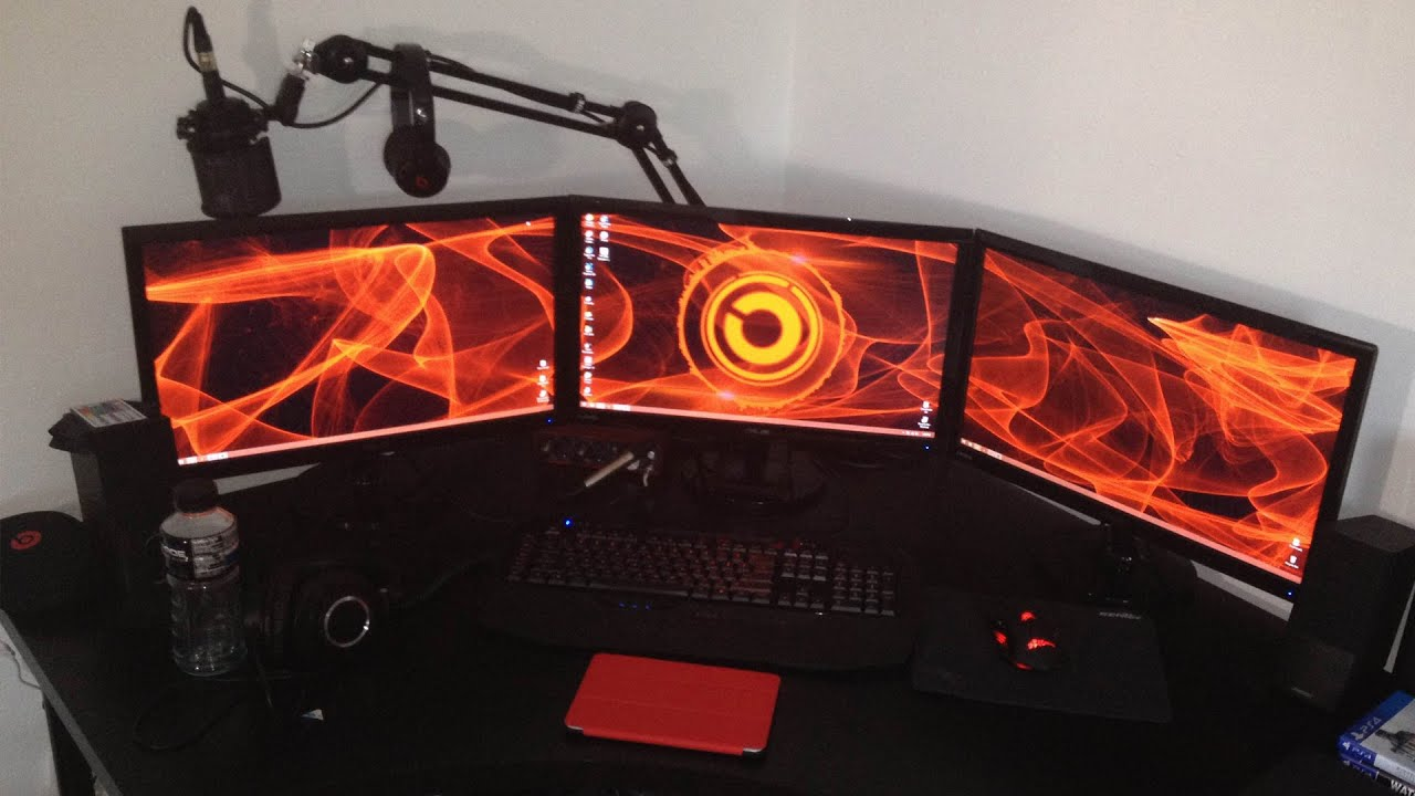 HaVoCs 90k Subcriber Setup Video  Triple Monitor Setup