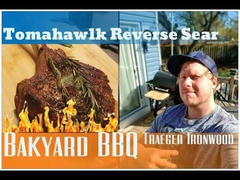 Download Tomahawk Reverse Sear Steak on the Traeger Ironwood 650