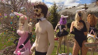 Sexy Easter Display Goes Back Up at Dentist's Office