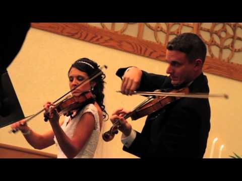 Canon in D violin duet played with my wife at OUR wedding!
