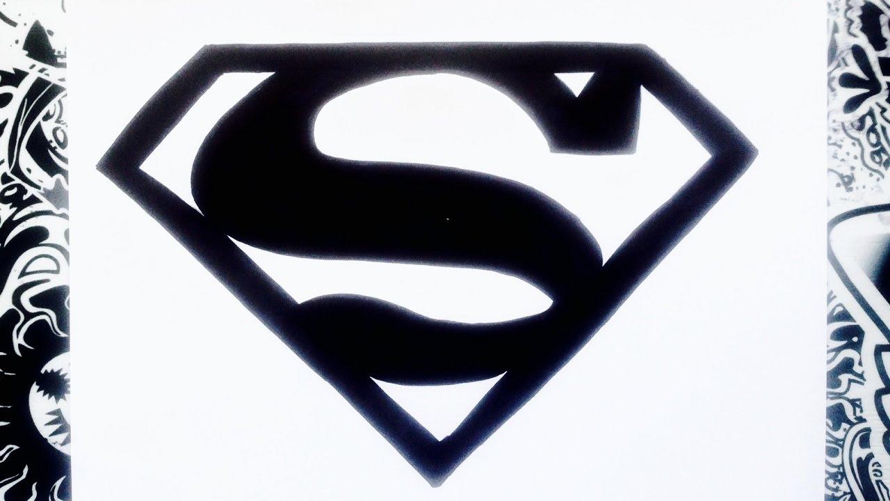 Como Dibujar El Logo De Superman How To Draw Superman Logo Youtube