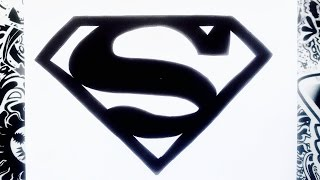 Como dibujar el logo de Superman | how to draw superman logo