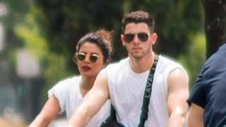 Priyanka Chopra and Nick Jonas Celebrate the 4th of July Bike Riding With His Brother Joe and Sop…