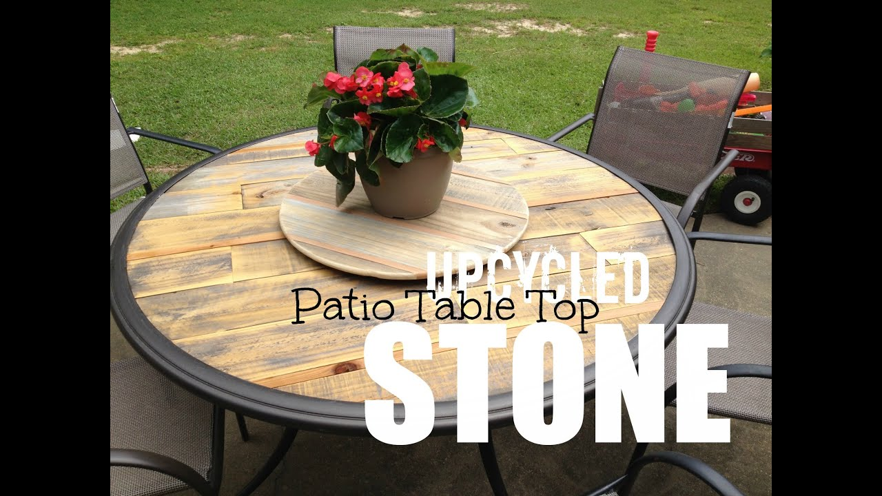 Wood Patio Table Top - Upcycled - YouTube