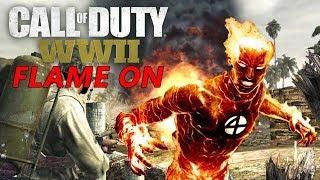 flamethrower kill streak-call of duty world war 2 multiplayer gameplay