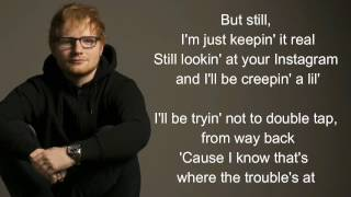 New man Ed Sheeran (lyrics)