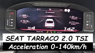 SEAT Tarraco 2.0 TSI Acceleration 0-100km/h Fuel Consumption TEST
