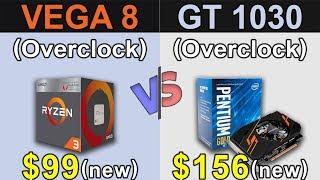 Vega 8 (R3 2200G) vs GT 1030 + Pentium G5400 | New Games Benchmarks