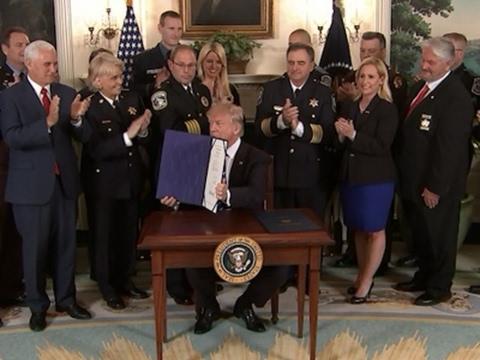Trump Signs Legislation to Aid Law Enforcement