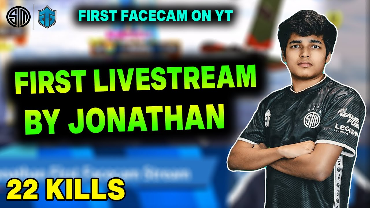 #JONATHAN First Live Stream On YOUTUBE | JONATHAN Showing Best Reflexes | 22 Kills Gameplay