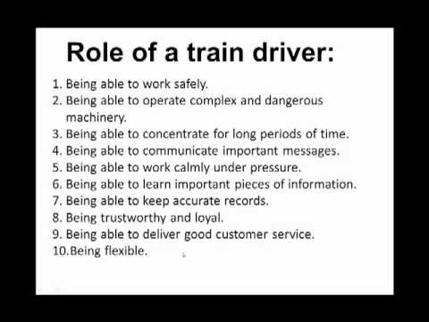 Train Driver Interview Questions - YouTube