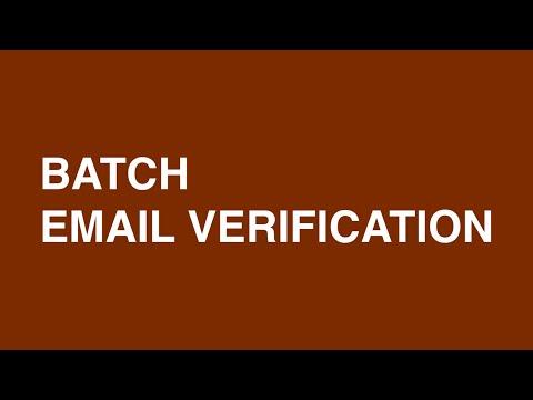 Batch email verification (EVADDON V6 DEMO)