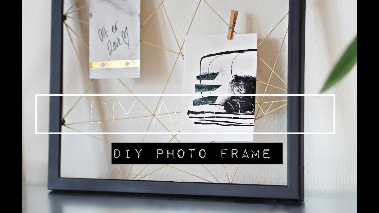 DIY photo clip frame - YouTube