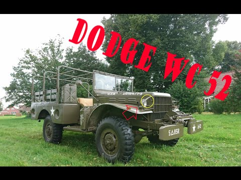 1945 Dodge WC62 6x6 1.5 Ton Cargo Truck and Willys Jeep ...
