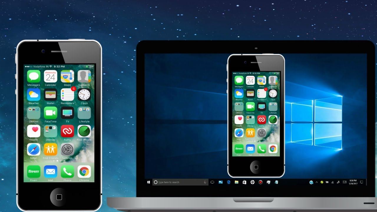 screen mirroring iphone how to mirror iphone display to pc free no usb 1588