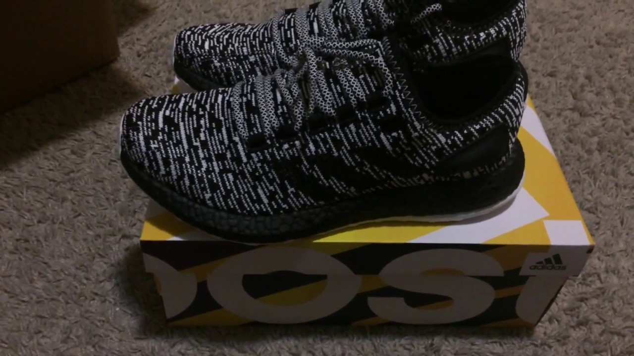 5892c32c215937 Adidas PureBOOST LTD Black Unboxing - YouTube
