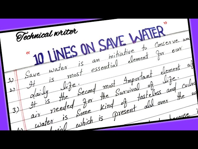 essay on save water save planet