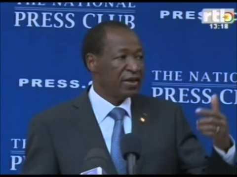 interview du président Blaise Compaoré invité du club de la presse Américaine