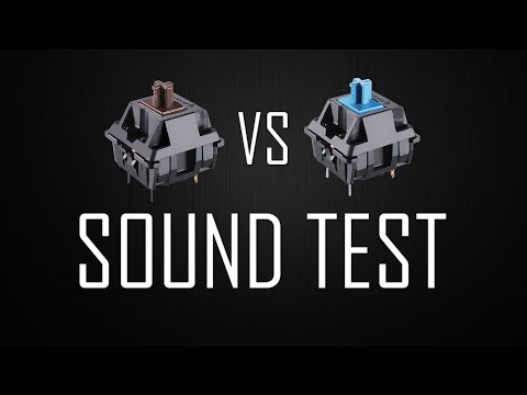 Comparação - Sound Test Cherry MX Blue vs Cherry MX Brown (Quick Fire TK)