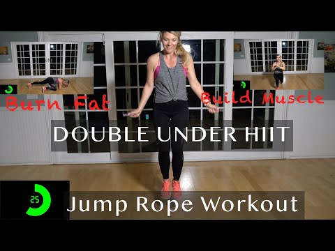 15 Min Double Under HIIT Intense Jump Rope Workout
